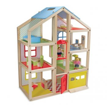 Hi-Rise Dollhouse Kit & Furniture Set