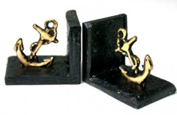Bookends with Brass Anchor