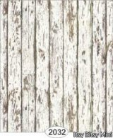 Distressed Wood White Wallpaper