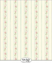 Cottage Floral Stripe Wallpaper