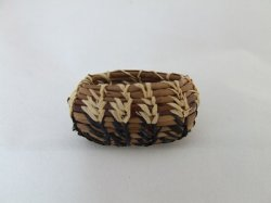 Large Oval Basket, Pine Needles