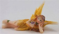 Small Fairy, Laying Down, Yellow