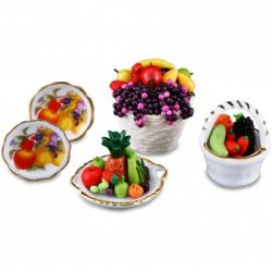 Fruit Bowls & Matching Plate Set