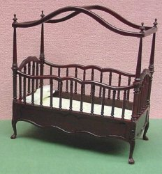 "1/2"" Bespaq ""Belmont"" Canopy Crib New Walnut"