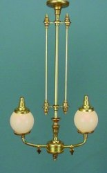 2 Light Victorian Gas Chandelier