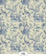 Chinese Toile, Blue Wallpaper