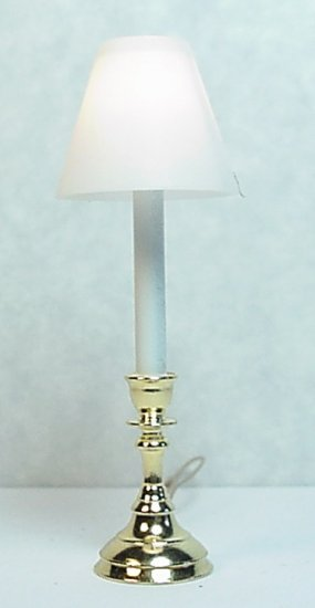 Tall Candlestick Table Lamp W White Shades Ce2000130w 23 25