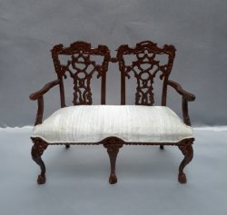 Chippendale Bench, Walnut