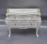 Bombe Chest with Mirror, Handpainted