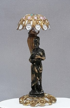 Tiffany Shade Lamp, Lady/Bronze