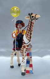 Clown on Giraffe