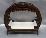 Chinese Chippendale Double Bed, Walnut