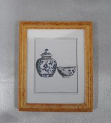 Framed Print, Bowl & Ginger Jar