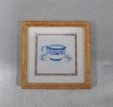 Framed Print, Tea Cups, B