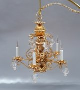 Opus 2 5 Arm Chandelier w/ Crystals