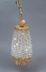 Hall Lamp w/ Crystals, 3 Light