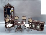 Portia Dining Room Set, 7pc, Mahogany