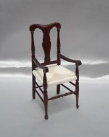 Q.A. English Arm Chair, Rush Seat, MH