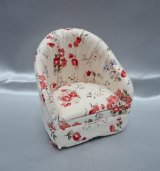 Club Floral Chair, Red