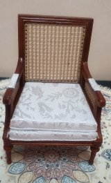 Caned Bergere Chair, New Walnut