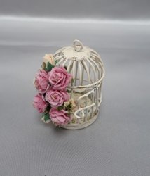 Birdcage with Roses, Pink