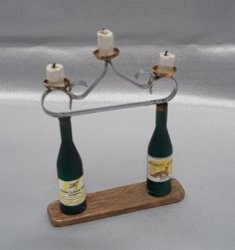 2 Bottle Wine Candle Holder