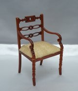 Art Nouveau Armchair, Walnut