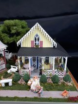 "1/4"" Two Cottages & Gazebo, Bunny Retreat"