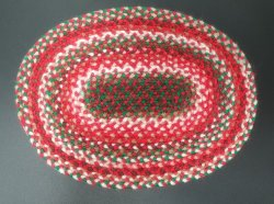 Braided Rug, Oval, 5H