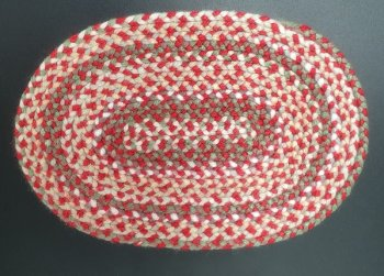 Braided Rug, Oval, 4F
