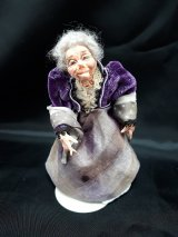 Elderly Lady, Purple