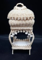 Sewing Basket Stand, Wicker