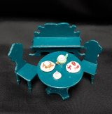 "1/2"" Turquoise Dining Set, 4pc"