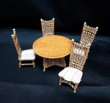 "1/2"" Wicker Table Set, 5pc"