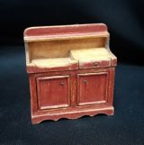 "1/2"" Dry Sink, Distressed Red"