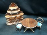 "1/2"" Victorian Dining Set, 4pc, Signed"