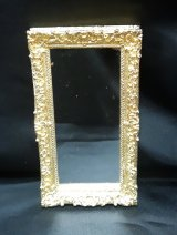 Rectangle Gold Metal Mirror, Large