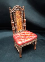 English Tufted Seat Chair, Red