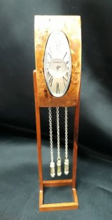 Art Deco Burl Clock, Working