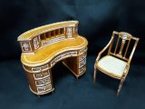 Pensee Desk & Chair, Handpainted