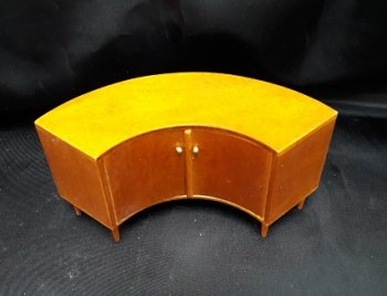Mid Century Cresent Shape Sideboard, WN