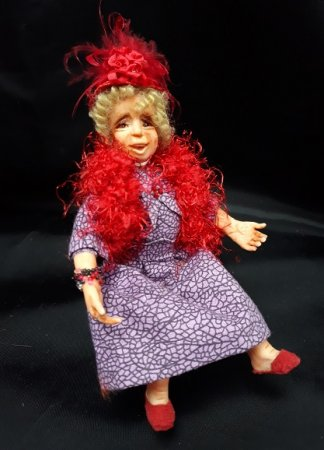 Red Hat Lady Doll