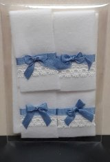 White Towels with Blue Bows