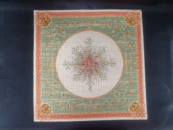 Petit Point Square Rug, 24 Count Silk