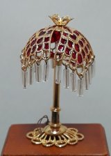 Tiffany Pendant Lamp, Red