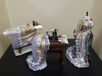 Mannequin Sewing Process, 3pc