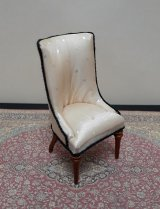 Classic Design Side Chair, WN/Gold