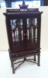 Chinese Chippendale China Cabinet, MH