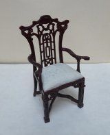 Chinese Chippendale Arm Chair, MH