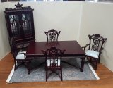 Chinese Chippendale Dining Set, 6pcs, MH